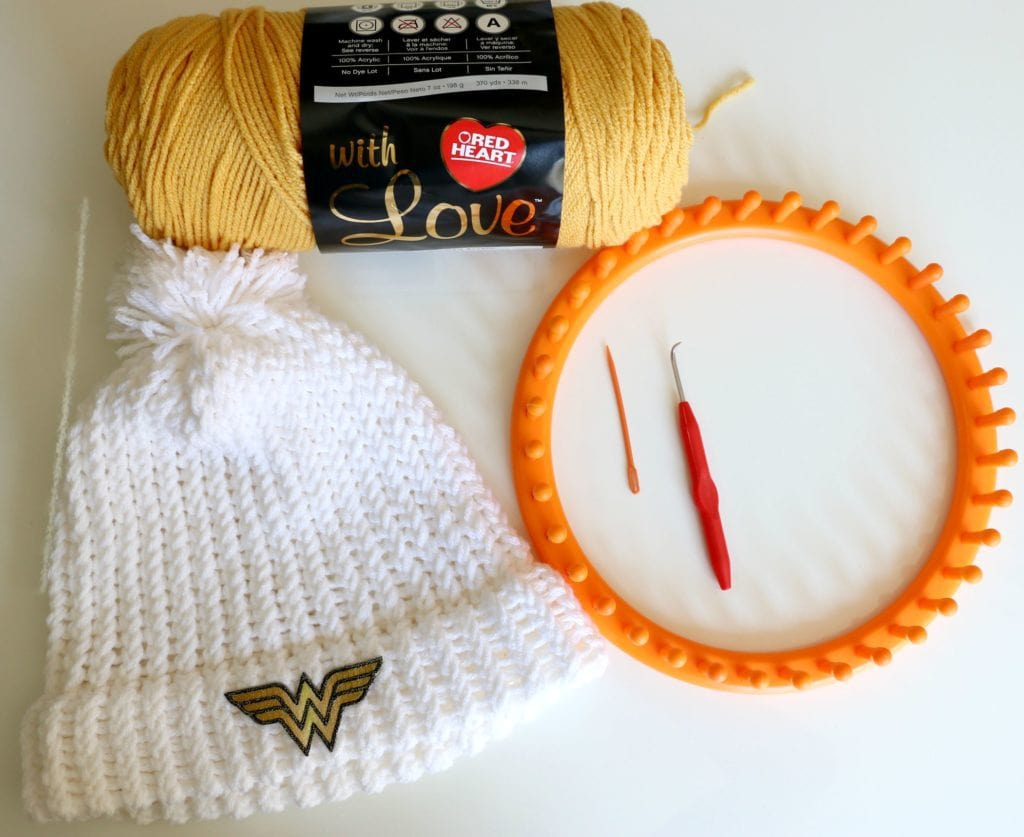 How To Loom Knit A Hat With A Hem Beginner
